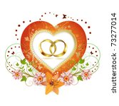 frame with shape heart and two... | Shutterstock .eps vector #73277014
