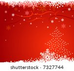 red christmas background with... | Shutterstock .eps vector #7327744