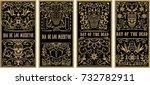 set of dead day banner template.... | Shutterstock .eps vector #732782911