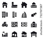 16 vector icon set   home ... | Shutterstock .eps vector #732787387