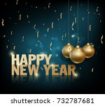 happy new year 2018 greeting... | Shutterstock . vector #732787681