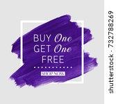 buy 1 get 1 free sale text over ... | Shutterstock .eps vector #732788269