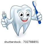 cute tooth dentists mascot... | Shutterstock . vector #732788851