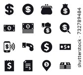 16 vector icon set   dollar ... | Shutterstock .eps vector #732789484