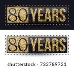 80 years anniversary gold...