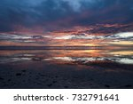 amazing sunrise colors by the... | Shutterstock . vector #732791641
