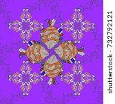 vector fashionable fabric... | Shutterstock .eps vector #732792121