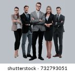 group of smiling business... | Shutterstock . vector #732793051