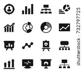16 vector icon set   target... | Shutterstock .eps vector #732797725