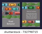 vector cars on the road with... | Shutterstock .eps vector #732798715