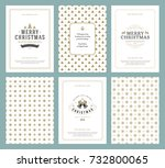 merry christmas greeting cards...   Shutterstock .eps vector #732800065