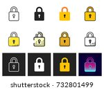 lock icon vector isolated | Shutterstock .eps vector #732801499