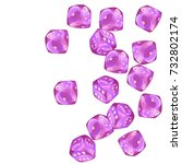 pattern with casino dice.... | Shutterstock .eps vector #732802174