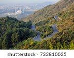 zig zag road of islamabad  ... | Shutterstock . vector #732810025