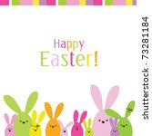 easter bunny. easter card with... | Shutterstock .eps vector #73281184