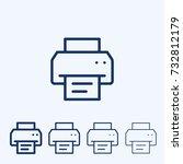 fax vector sign icon. printer... | Shutterstock .eps vector #732812179