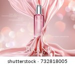 luxury cosmetic ads  pink... | Shutterstock .eps vector #732818005