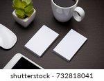corporate stationery branding... | Shutterstock . vector #732818041
