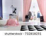 glamor woman's bedroom with...   Shutterstock . vector #732818251