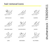 hair removal icons set  shaving ... | Shutterstock .eps vector #732820411
