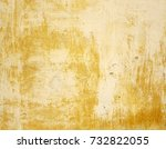 yellow and gray dirty plaster... | Shutterstock . vector #732822055