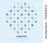 cybersport concept in circle... | Shutterstock .eps vector #732828151