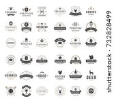 vintage logos design templates... | Shutterstock .eps vector #732828499