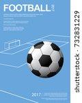 soccer football poster vestor... | Shutterstock .eps vector #732831229