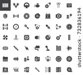 car parts vector icons set ...   Shutterstock .eps vector #732836194