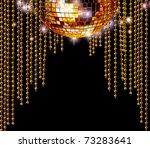 Golden Disco Mirror Ball And...