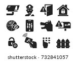Home security and protection icon set 03