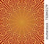 gold color circle design... | Shutterstock . vector #732842179