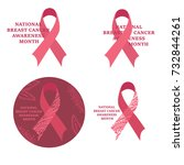 national breast cancer... | Shutterstock . vector #732844261