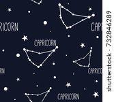 capricorn. seamless pattern... | Shutterstock .eps vector #732846289