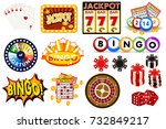casino gambling win luck... | Shutterstock .eps vector #732849217