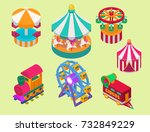 circus isometric show... | Shutterstock .eps vector #732849229