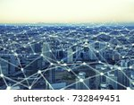 communication network and... | Shutterstock . vector #732849451