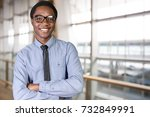 portrait of a businessman | Shutterstock . vector #732849991