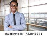 portrait of a businessman | Shutterstock . vector #732849991