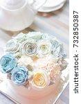 beautiful buttercream flower... | Shutterstock . vector #732850387