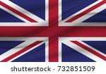 united kingdom flag vector | Shutterstock .eps vector #732851509