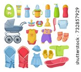 set of different tools for... | Shutterstock .eps vector #732857929
