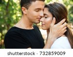 close up portrait of a happy... | Shutterstock . vector #732859009