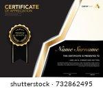 diploma certificate template... | Shutterstock .eps vector #732862495