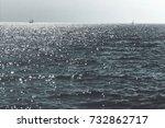 Sailboat Sailng  In The Ocean...
