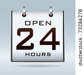 simple icon with open 24 hr... | Shutterstock .eps vector #73286278