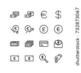 miscellaneous icons of wealth... | Shutterstock .eps vector #732873067