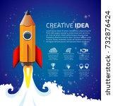 creative idea concept   pencil... | Shutterstock .eps vector #732876424