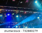 stage lights. soffits. concert... | Shutterstock . vector #732880279