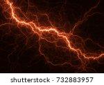 Hot Orange Lightning Design ...